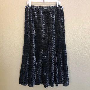 JONES NY NWT Stunning Black & Silver Skirt - 10